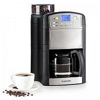 Klarstein Aromatica kávovar, mlýnek, 10 šálků, skleněná konvice, aroma +, ušlechtilá ocel