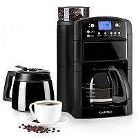 Klarstein Aromatica Set kávovar, mlýnek, skleněná konvice / termoska, černá barva