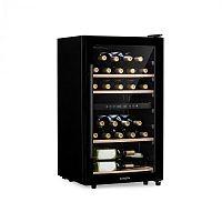 Klarstein Barossa 34D, vinotéka, 2 zóny, 34 lahví, skleněné dveře, dotyková, černá