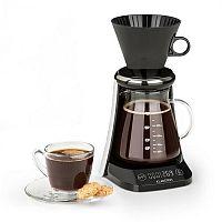Klarstein Craft Coffee, kávovar, váha, časovač, nástavec s filtrem, 600 ml, černý/bílý
