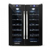 Klarstein SaloonNapa chladnička na víno, objem 67 litrů, 2 prosklené dveře, 11-18 ° C, černá barva