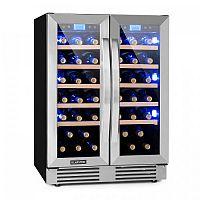 Klarstein Vinovilla Duo 42, 2-zónová chladnička na víno, 126 l, 42 lahví, 3 barvy, skleněná
