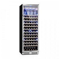 Klarstein Vinovilla Grande, velkoobjemová vinotéka, chladnička, 425l, 165 fl., 3barevné LED osvětlení