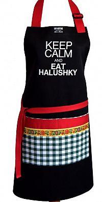 Anamo Zástěra Keep calm and eat halushky