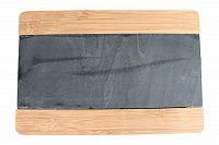 Kitchen Goods and More Bambusové prkénko s břidlicí 29,5 x 20 cm