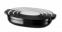KitchenAid pekáč keramický, sada 4 ks (KBLR04NSOB) černá