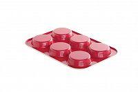 Plech na pečení mini koláčů Nordic Ware, červená