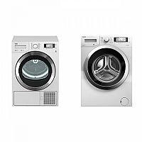 Set (Automatická pračka Beko Superia WMY 71243 CS PTLMB1) + (Sušička prádla Beko DPY 8506 GXB1)