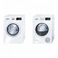 Set (Automatická pračka Bosch WAT28660BY) + (Sušička prádla Bosch WTW85460BY)