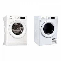 Set (Automatická pračka Whirlpool FWG81284W EU) + (Sušička prádla Whirlpool Fresh Care FT M11 82Y EU)