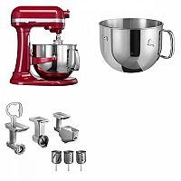 Set (Příslušenství k robotům KitchenAid 5FPPC) + (Kuchyňský robot KitchenAid Artisan 5KSM7580XEER) + (Příslušenství k robotům KitchenAid 5KR7SB)