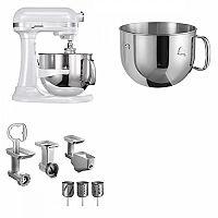 Set (Příslušenství k robotům KitchenAid 5FPPC) + (Kuchyňský robot KitchenAid Artisan 5KSM7580XEFP) + (Příslušenství k robotům KitchenAid 5KR7SB)