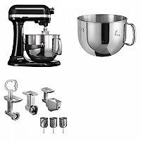 Set (Příslušenství k robotům KitchenAid 5FPPC) + (Kuchyňský robot KitchenAid Artisan 5KSM7580XEOB) + (Příslušenství k robotům KitchenAid 5KR7SB)