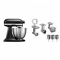 Set (Příslušenství k robotům KitchenAid 5FPPC) + (Kuchyňský robot KitchenAid Artisan MINI 5KSM3311XEBM)
