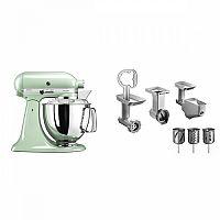 Set (Příslušenství k robotům KitchenAid 5KSMFPPC) + (Příslušenství k robotům KitchenAid 5FPPC) + (Kuchyňský robot KitchenAid Artisan 5KSM175PSEPT)