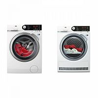 Set (Sušička prádla AEG AbsoluteCare® T8DBE48SC) + (Automatická pračka AEG ProSteam® L7FBE48SC)