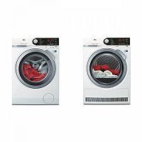 Set (Sušička prádla AEG AbsoluteCare® T8DBE48SC) + (Automatická pračka AEG ProSteam® L7FBE68SC)