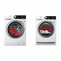 Set (Sušička prádla AEG AbsoluteCare® T8DBE68SC) + (Automatická pračka AEG ProSteam® L7FBE48SC)