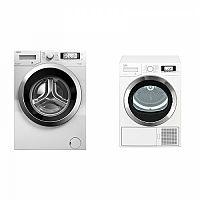 Set (Sušička prádla Beko EDE8635RX0) + (Automatická pračka Beko Superia WMY 71243 CS PTLMB1)