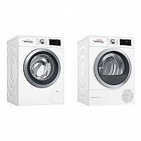 Set (Sušička prádla Bosch WTW876WBY) + (Automatická pračka Bosch WAT286H1BY)