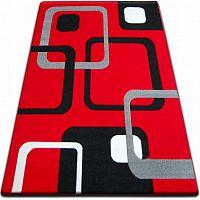 3kraft Kusový koberec FOCUS - F240 červený čtverce