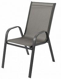 Bluegarden Zahradní židle Polo šedá