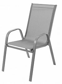 Bluegarden Zahradní židle Polo světle šedá