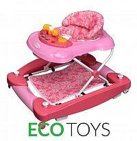 ECOTOYS Dětské vzdělávací chodítko Eco Toys růžové