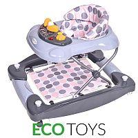 ECOTOYS Dětské vzdělávací chodítko Eco Toys šedivé