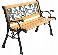 Kovaná zahradní lavice ROSA BlueGarden