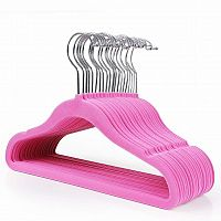 Rongomic Dětské velurové ramínko na oděvy 20 kusů - růžové