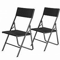 Rongomic Zahradní skládací židle Ranie 2 kusy černé