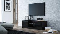 Shoptop TV stolek KARO RTV 120  černý, lesklý