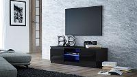 Shoptop TV stolek KARO RTV 140 černý, lesklý