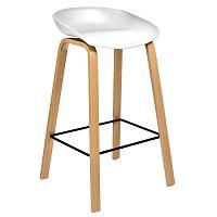 TZB Barová židle Hoker ROCCO bílá
