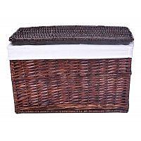 TZB Proutěný koš na prádlo - hnědý 65 L