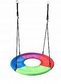 Zahradní houpačka pro děti s dírou na nohy Ecotoys Freya barevná