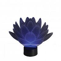 3D LED lampa Lotosový květ