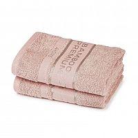 4Home Bamboo Premium ručník růžová, 50 x 100 cm, sada 2 ks