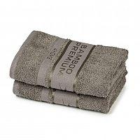 4Home Bamboo Premium ručník šedá, 50 x 100 cm, sada 2 ks