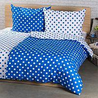 4Home Bavlněné povlečení Modrý puntík, 220 x 200 cm, 2 ks 70 x 90 cm