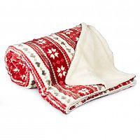 4Home Beránková deka Zimní sen červená, 150 x 200 cm