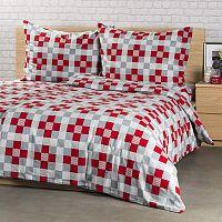 4Home Flanelové povlečení Checker, 220 x 200 cm, 2 ks 70 x 90 cm