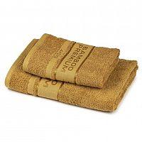 4Home Sada Bamboo Premium osuška a ručník svetlo hnedá, 70 x 140 cm, 50 x 100 cm