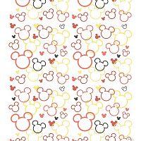 AG Art Dětská fototapeta Mickey a Minnie červená, 53 x 1005 cm