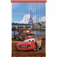 AG ART Dětský zatemňovací závěs Cars in Paris, 140 x 245 cm