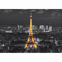 AG Art Fototapeta XXL Eiffelova věž v noci 360 x 270 cm, 4 díly