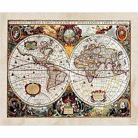 AG Art Fototapeta XXL Stará mapa 360 x 270 cm, 4 díly
