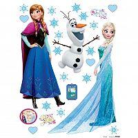AG Art Samolepicí dekorace Elsa a Anna, 30 x 30 cm