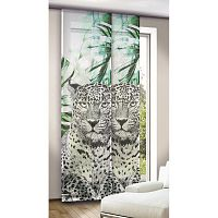 Albani závěsový panel Leo zelenočerný, 245 x 60 cm